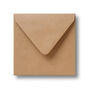 Envelop 16 x 16 cm Kraft lichtbruin AANBIEDING