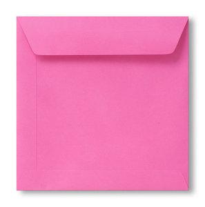 Envelop 19 x 19 cm Knalroze