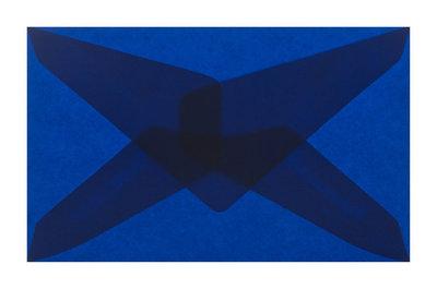 Envelop 62 x 98 cm transparant donkerblauw