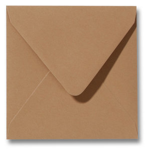 Envelop 12 x 12 cm Bruin
