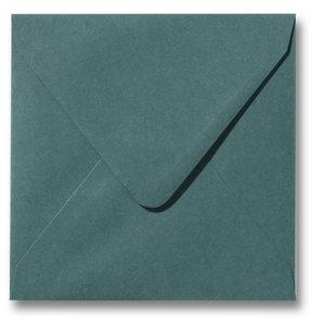 Envelop 12 x 12 cm Donkergroen
