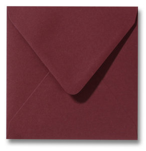 Envelop 12 x 12 cm Donkerrood