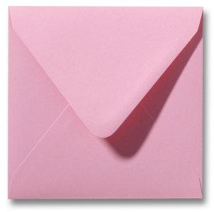 Envelop 12 x 12 cm Donkerroze