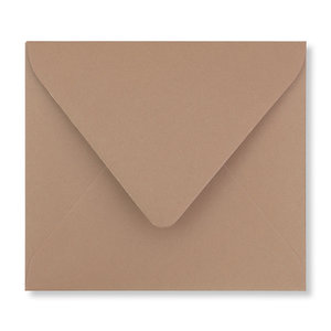 Envelop 12,5 x 14 cm Bruin