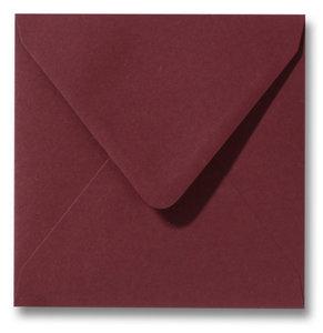 Envelop 14 x 14 cm Donkerrood