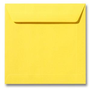 Envelop 19 x 19 cm Boterbloemgeel