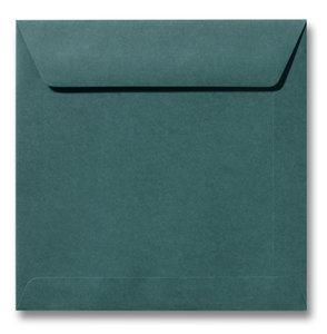 Envelop 19 x 19 cm Donkergroen