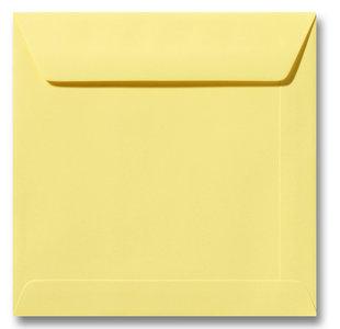 Envelop 19 x 19 cm Kanariegeel