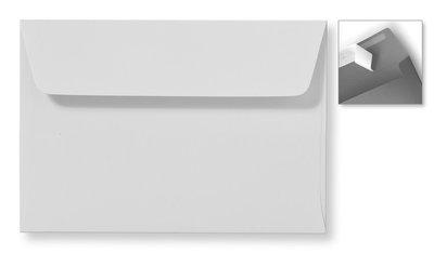 Envelop 12,6 x 18 cm Striplock Zilvergrijs (lichtgrijs)
