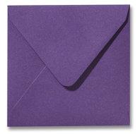 Envelop 14 x 14 cm Metallic Purple